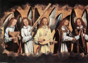 Angeli Musicanti di Hans Memling (1480)