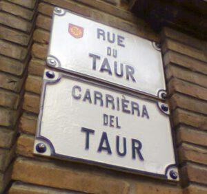 Targhe nomi delle vie delle strade a Tolosa