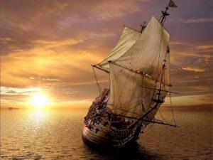 Caravella sul mare