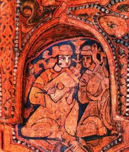 Due musicisti musulmani - Cappella Palatina a Palermo